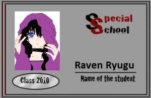 Special School ID: Raven by poisonraven5