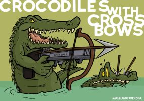Crocodiles with Crossbows by GagaMan