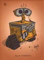 30 Day Drawing Challenge Day 1: Wall-E by stayte-of-the-art