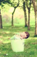 my first baby outside by Burder