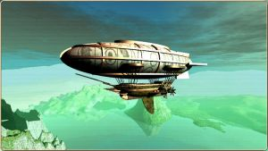 Dirigible Airship by Miritalner