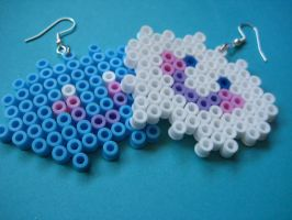happy cloud hama earrings by Shimmerbrite