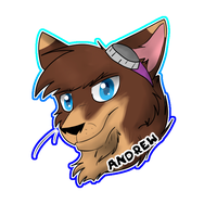 Andrew Badge (1/2) by Obsidianthewolf