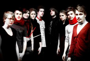 Super Band Posing 1 by Graphica