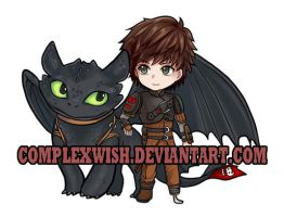 Toothless and Hiccup by ComplexWish