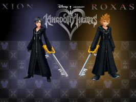 Kingdom Hearts Xion and Roxas by LumenArtist