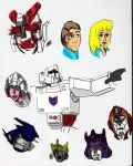 Color transformers sketch page by Number1Exile