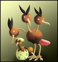 Doduo and Dodrio by Ninjendo
