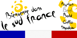 New Font sud france by yourenemy