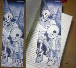 Sans and Papyrus Bookmark - Undertale by XxEagleFirexX