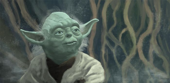 Yoda Digital Painting by Mathieustern