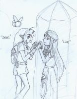 zelda and link by naruto654