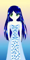 Blue-Haired Girl by dulciejackson