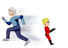 Quicksilver and Dash by coDDRy