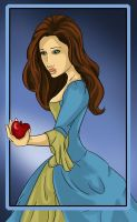 Girl with apple by Aztarieth