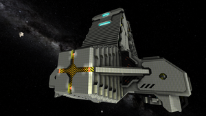 CIF Freighter front (Refit) by Dimcreaper