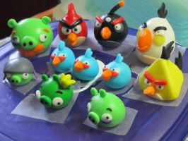 Fondant Angry Birds by Leara