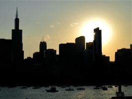 Chicago Skyline Silhouette by iNintendork