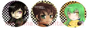 Code Geass: Button Set by niolynn