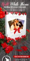 Red and White Theme Wedding DVD with Disc Label by ShermanJackson