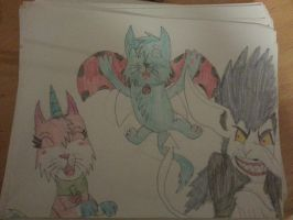 UniKitty, CatBug, and Boogeyman by Toothshy11