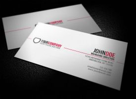 Simple Professional Business Card by glenngoh