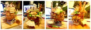 Howl's Moving Castle Papercraft by hklovesboba
