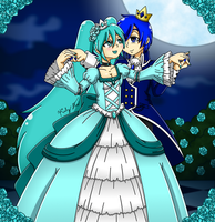Miku and Kaito - Victorian King and Queen by drinkyourvegetable