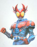 Kamen Rider Agito-Burning Form by vitordramon
