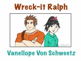 Ralph And Vanellope by AniLover16