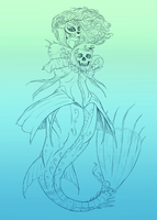 Sugar Skull Mermaid by Viergacht