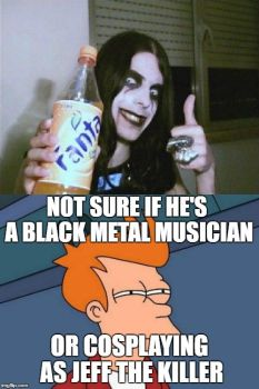 Not sure if He's a Black Metal Musician by The-Hylian-Metalhead