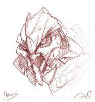 Movie Starscream head rough by zgul-osr1113