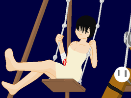 Elena's Day With Her Father On The Swings by Metylover2143