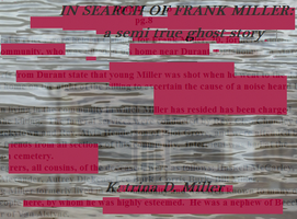 IN SEARCH OF FRANK MILLER-book art by Millerkatrina28