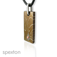 Damascus Copper Pendant by Spexton