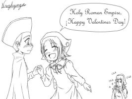 Valentine Day - Lineart by nvghyuga
