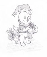 Pooh and Piglet by caitiedidd