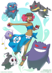 A Girl And Her Ghosts by Cokomon