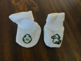 Yoshi Baby Booties by Sew-Madd