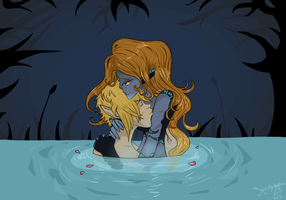 Forget the world, it's you and me: Midna/Link by squishMuffin23