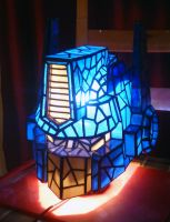 Optimus Prime Stained Glass Helmet Desk Lamp by mclanesmemories