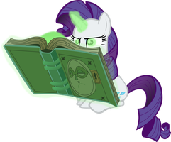 Rarity, and The Evil Book Spirit. by Flutterflyraptor