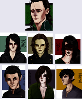 Loki and his children by NoodleSayYeah