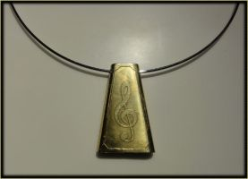 Treble Clef Pendant by ChimeraDragonfang