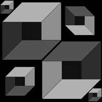 Simple Box Illusion- ms paint by rayna23
