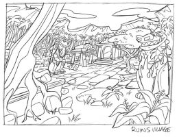 Jungle Ruins_rough layout by tombancroft