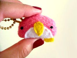 Itty Bitty Penguin Plush Keych by casscc