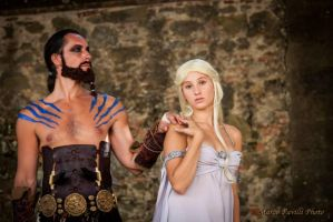 Khal And Khaleesi by NinjaNinjin