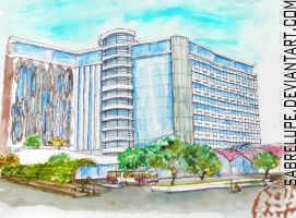 Contemporary Hotel Design in Watercolor by sabrelupe
